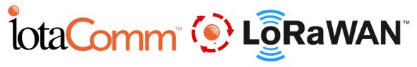 iotaComm logo adn LoRaWAN logo